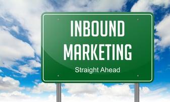 Highway Signpost with Inbound Marketing wording on Sky Background..jpeg