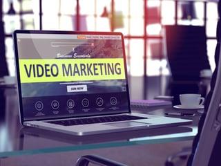 video-marketing-social-media-dental-laptop-closeup-screen-youtube-facebook-snapchat