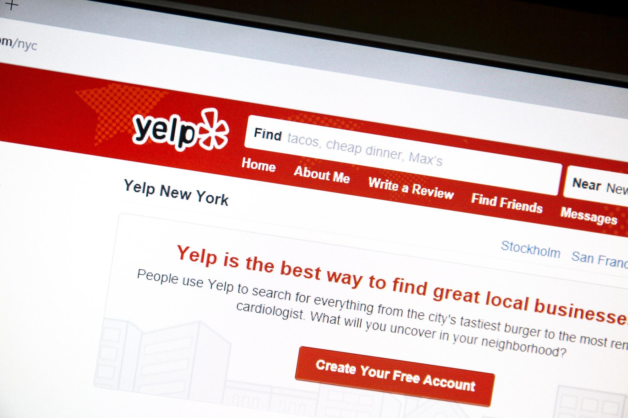 yelp reviewe platform